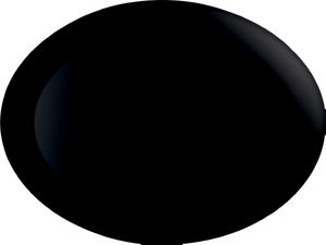 Oval Diwali A., črn, 25x33cm
