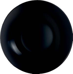 Krožnik Diwali A., globok, črn, 20cm