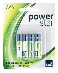Baterijski vložki power star, AAA, 4/1