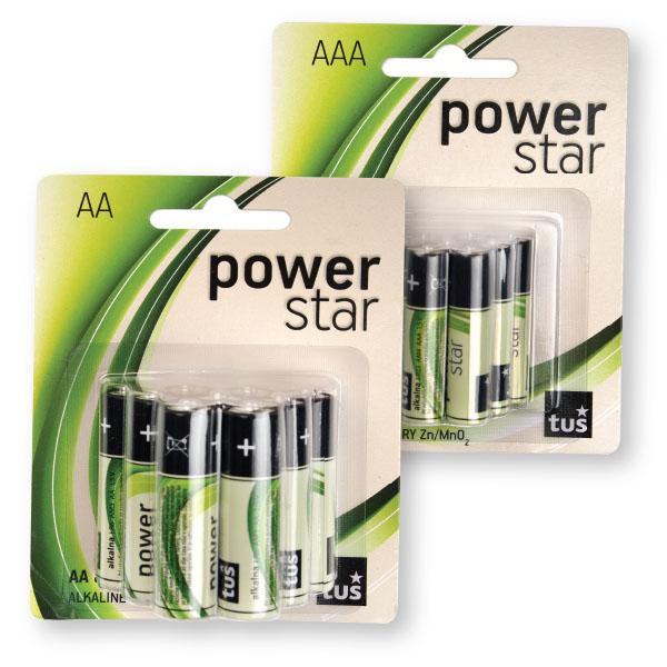 Baterijski vložki, Power star, AA, 9/1