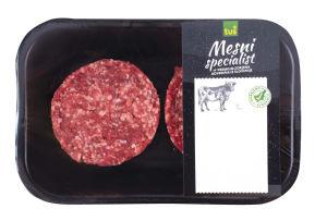 Burger iz zorjenega mesa, mesni pripravek