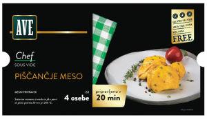 Mesni izdelki Chef, več vrst, pakirano