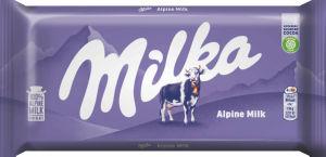 Čokolada mlečna, Milka z alpskim mlekom, 100g