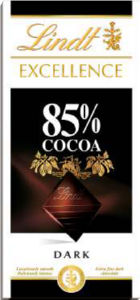 Čokolada Lindt, Excell., temna, 85%, 100g