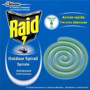 Insekticid Raid, spirale, 10/1