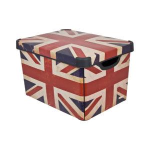 Škatla za shranjevanje Curver, L, Iml British flag,  22 L