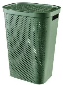 Koš za perilo Infinity recycled 59l, zelena