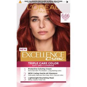 Barva za lase L'Oreal Excellence 6.66