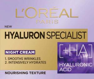 Krema L'Oreal, Hyaluron Specialist, nočna, 50 ml
