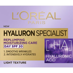Krema L'Oreal, Hyaluron Specialist SPF20, dnevna, 50 ml