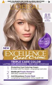 Barva za lase L'Oreal Excellence, 8.11, Ultra ash Light blonde