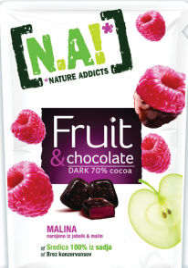 Bonboni N.A!, malina čokolada, 35 g