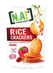 Krekerji N.A! riževi, paprika, 70g