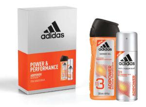 Darilni set Adidas moški, Adipower, losjon za telo 150 ml + gel za tuširanje 250 ml