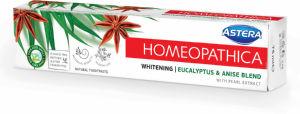 Zobna pasta Astera homeopatica, Whitening, 75ml