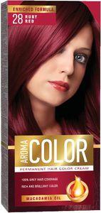 Barva za lase Aroma, color, 28 rub.rdeča