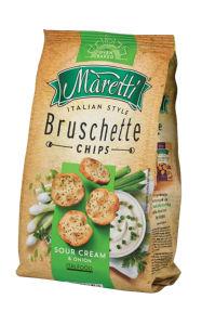 Bruschette Maretti, kisla smetana&čebula, 150 g