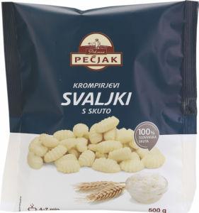 Krompirjevi svaljki s skuto, Pečjak, 500g
