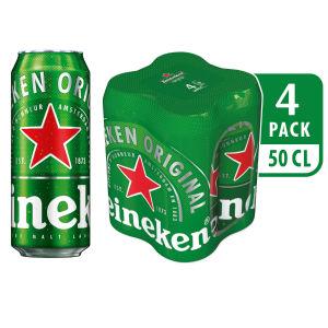 Pivo Heineken, alk.5 vol%, 4×0,5l