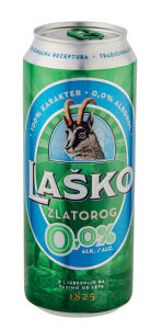 Pivo Zlatorog svetlo, alk. 0 vol %, 0,5 l