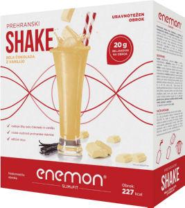 Enemon Slim&fit, shake, bela čokolada z vanilijo, 360g