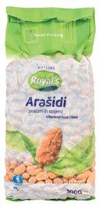 Arašidi Royal`s, slani, vak.pak., 500g