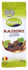 Rozine čoko Royal's Bite a snack, 50g