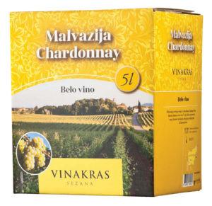 Vino B.Malv., Char., Bag&box, alk.12 vol%, 5l