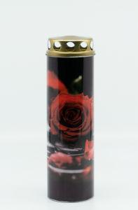 Sveča Eko rdeča vrtnica, papirnata
