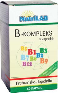 Prehransko dopolnilo Nutrilab vitamin B-kompleks, 60/1