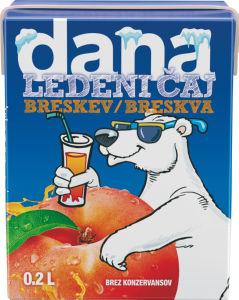 Ledeni čaj Dana, breskev, s slamico, 0,2l