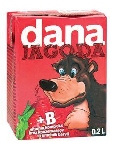 Pijača Dana, jagoda, 0,2l