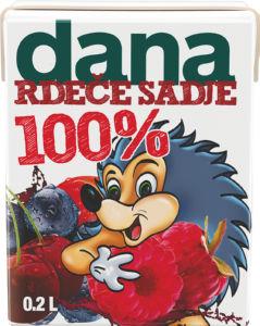 Sok Dana rdeče sadje, 100%, 0,2l