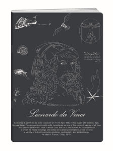 Zvezek A4 Elisa, črte, znanstveniki, 52 listni