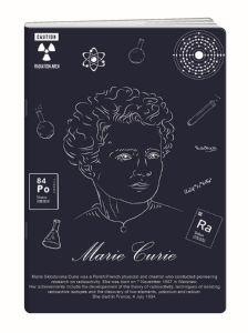 Zvezek A4 Elisa, mali karo, znanstveniki, 52 listni