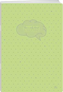 Zvezek A4 Elisa, mali karo, pastel pike, 52 listni