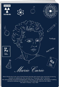 Zvezek A4 Elisa, črte, znanstveniki, 80 listni