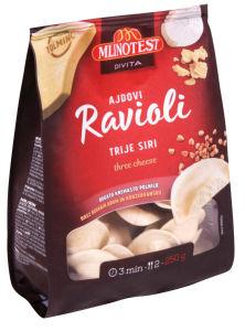 Ravioli Divita ajdovi 3 siri, 250 g