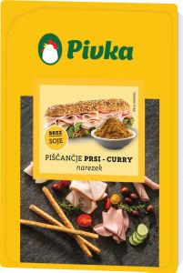 Narezek piščanjčje prsi, curry, 100 g