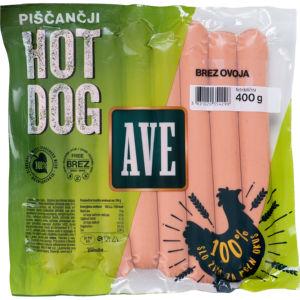 Piščančji Hot Dog Ave, brez ovoja, 400g