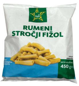 Fižol Tuš, stročji, rumen, zamrznjeno, 450g
