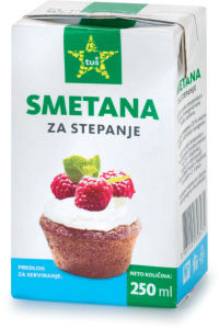 Smetana Tuš, za stepanje, 250 ml