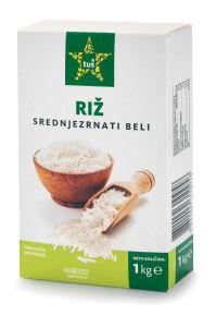 Riž Tuš, beli, srednjezrnat, 1kg