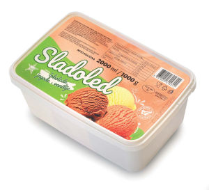 Sladoled Tuš, čokolada-jagoda-vanilija, 2l