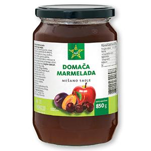 Domača marmelada Tuš, mešana, 850g