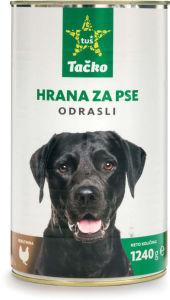 Hrana za pse Tačko, perutnina, riž, 1,24kg
