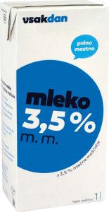 Mleko Vsakdan, 3,5 %  m.m, 1 l