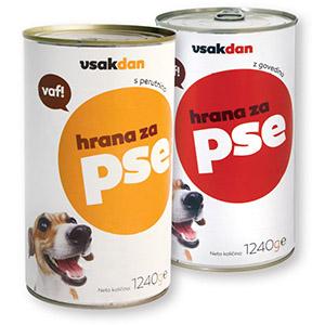 Hrana za pse vsakdan, 1,24kg, več vrst*