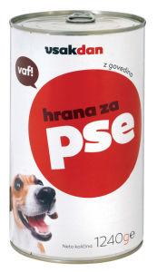 Govedina Vsakdan za psa, 1,24kg