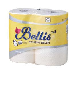Papirnate brisače Bellis, 3-slojne, 90 list